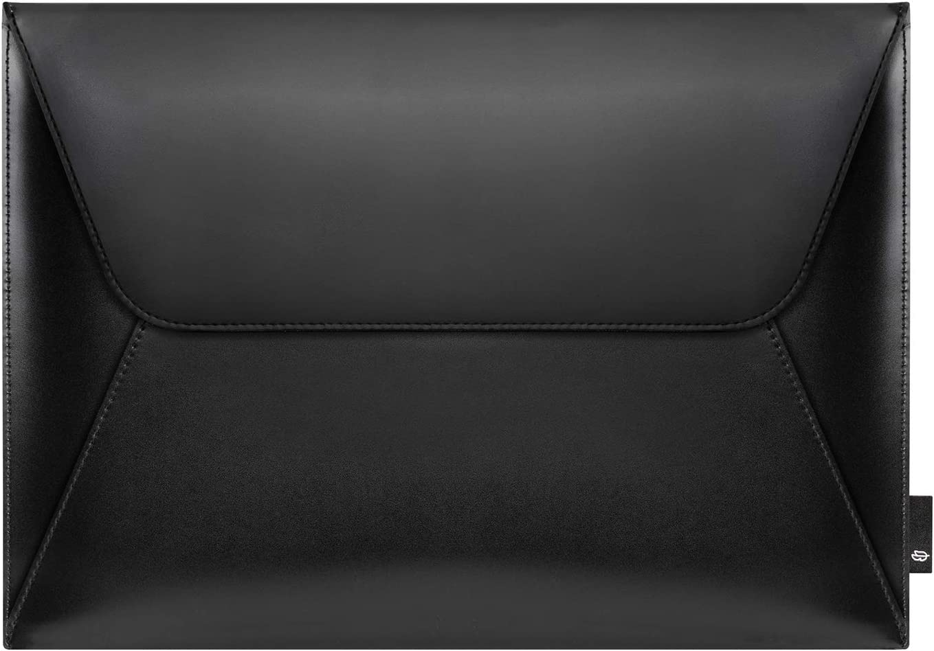 Comfyable Leather Laptop Clutch, Sleeve for 13-13.3 Inch MacBook Air & MacBook Pro - Envelope Computer Case for Mac, Black