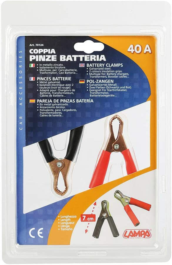 40A 7 cm Lampa 70124 Coppia pinze Batteria