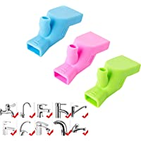 Faucet extender, 3-piece food-grade silicone extender faucet universal high-strength silicone extender suitable for…
