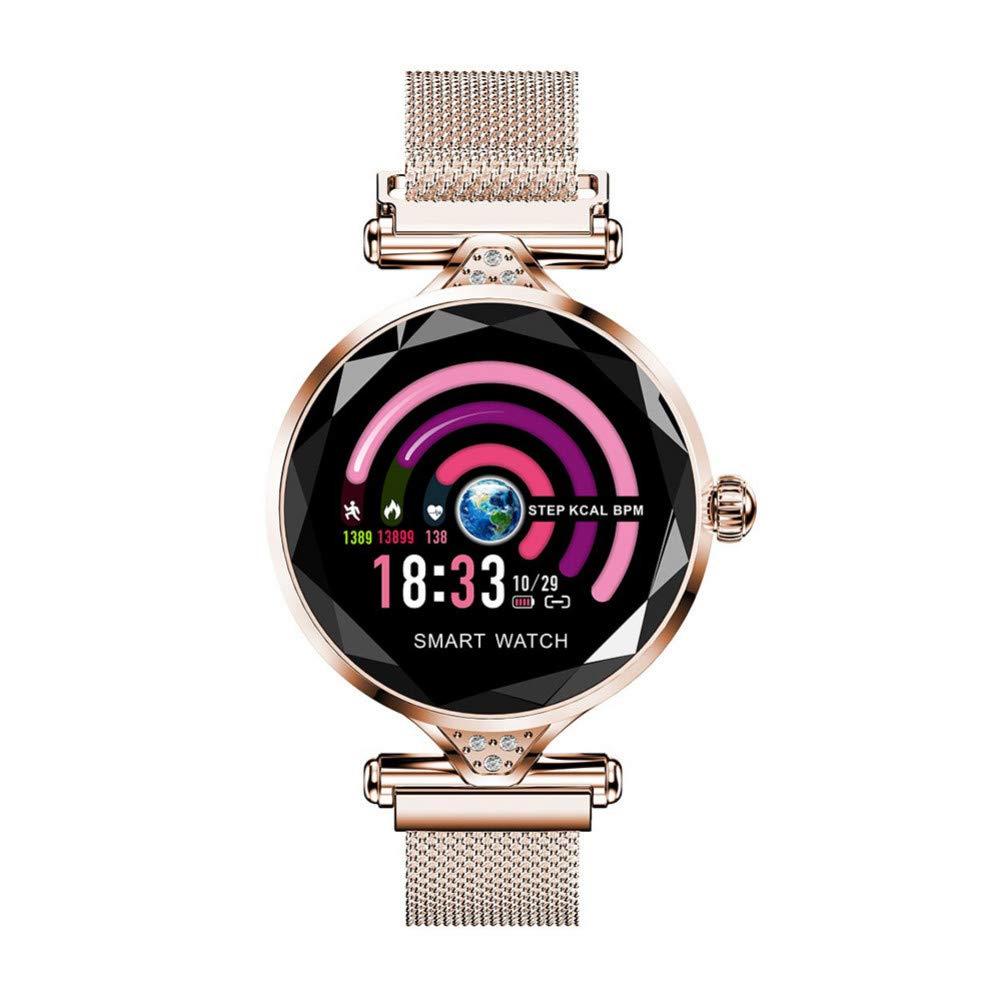 BGSY Reloj Inteligente Moda para Mujer Monitor De Ritmo ...
