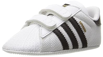adidas Originals Baby Superstar Crib Running Shoe Black White d302f49f2