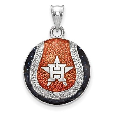 Astros Symbol >> Amazon Com Mlb Houston Astros Sterling Silver Houston