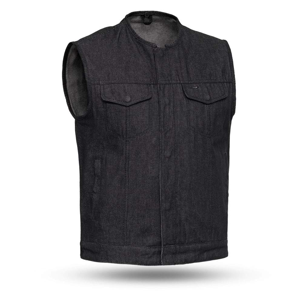 First Mfg Co Haywood Mens Roll collar club style vest Blue, Small