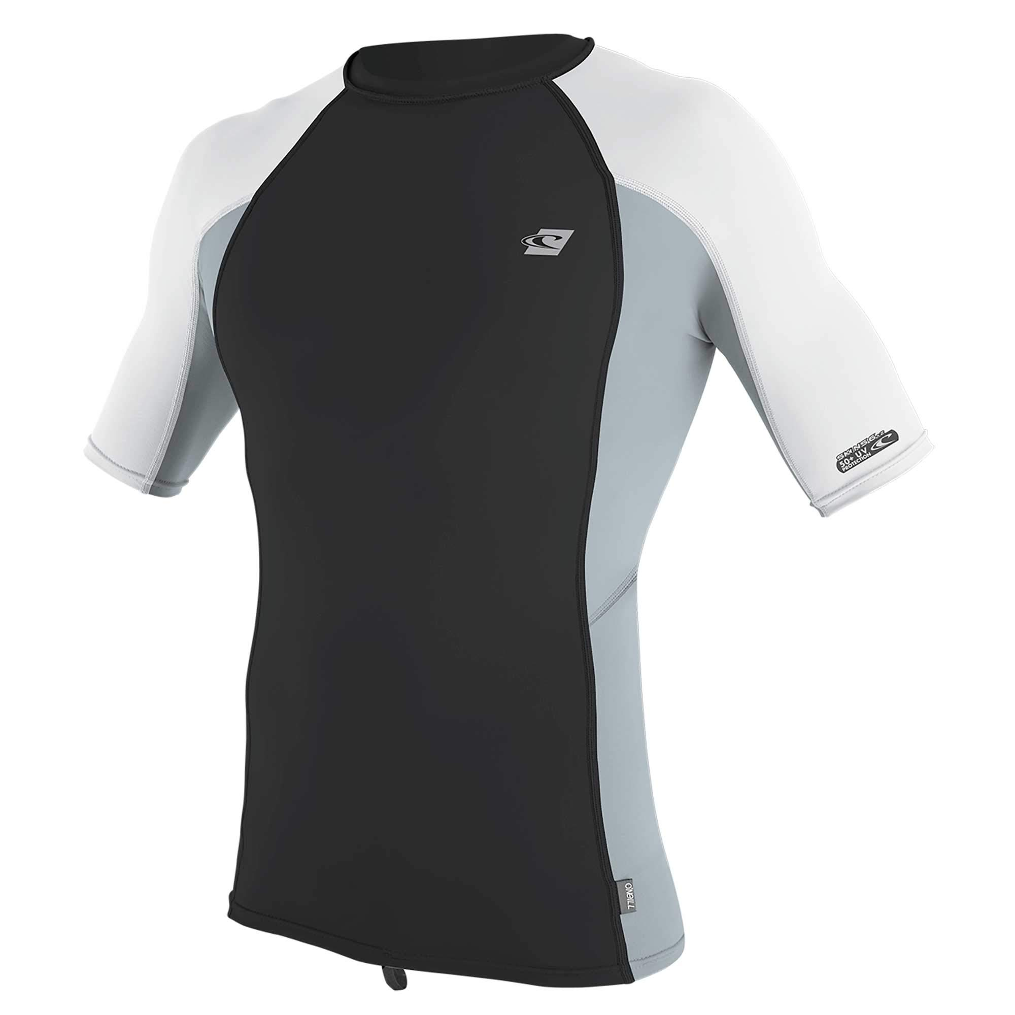 O'Neill Wetsuits Men's Premium Skins UPF 50+ Short Sleeve Rash Guard, Midnight Oil/Cool Grey/White, X-Small by O'Neill Wetsuits