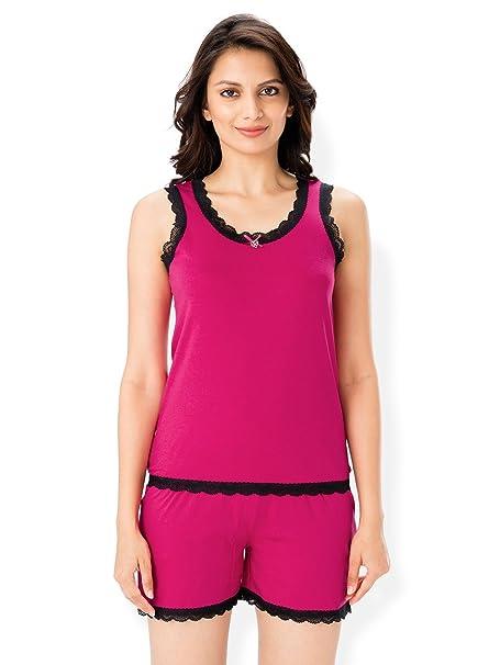 cd778f944c0 PrettySecrets Cotton Tank   Short Set  Amazon.in  Clothing   Accessories