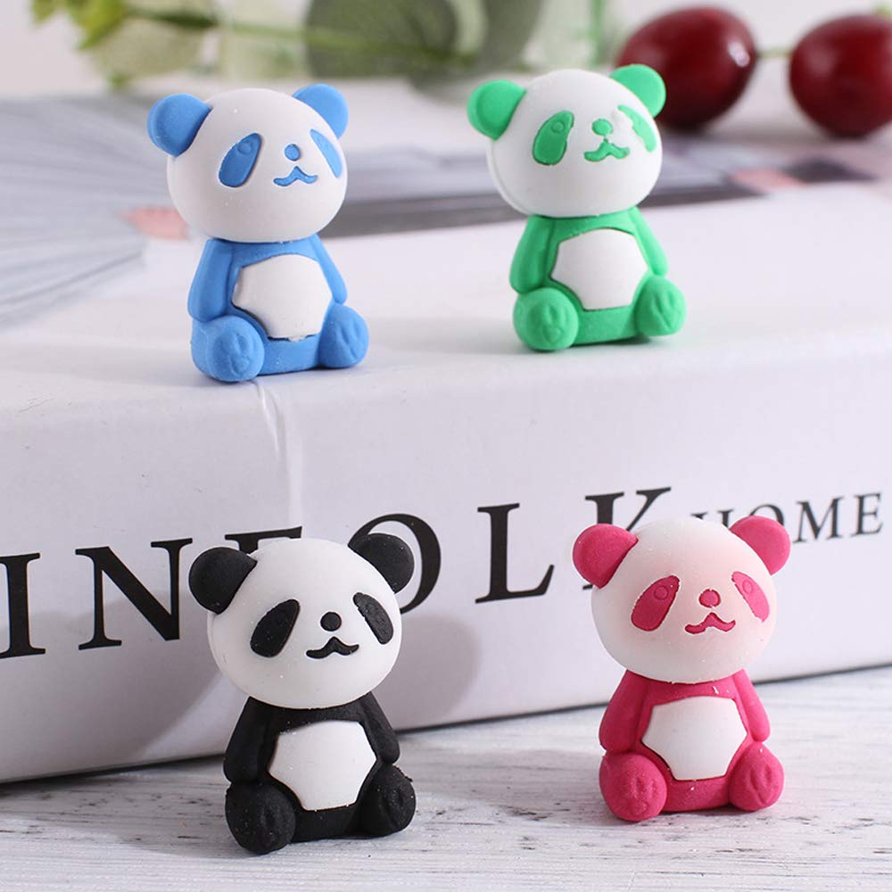 For Kids 32 Pcs Panda Pencil Eraser Set Childrens Gift Party Favor Holiday Gift