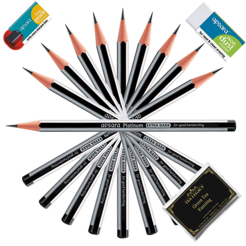 100 HB Pencil Pencils With White Eraser Rubber Tip Long Home School Office