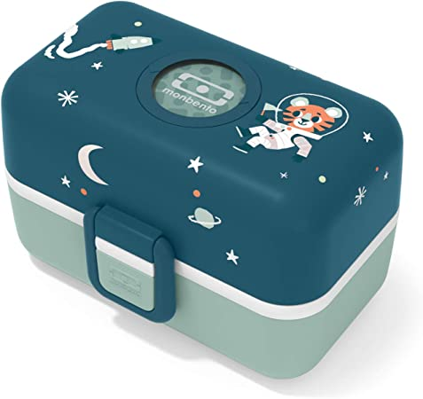 monbento - MB Tresor Azul Cosmic Fiambrera Infantil - Lonchera para niños 3 Compartimientos - Caja merienda - Bento Box sin BPA - Segura y Duradera: Amazon.es: Hogar