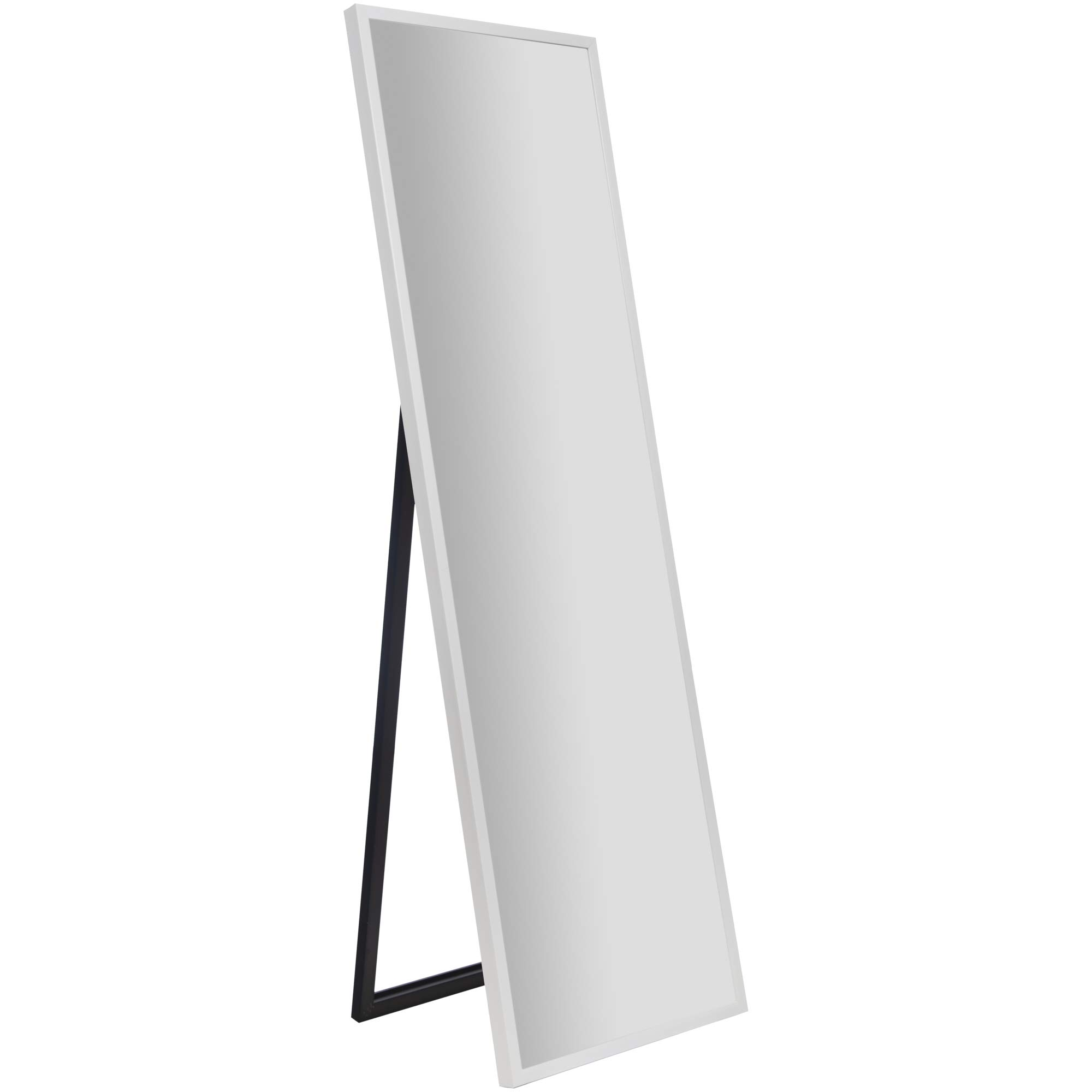 Everly Hart Collection 16'' x 57'' Full Length White Floor Free Standing Easel Mirror by Everly Hart Collection