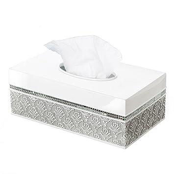 Creative Scents Mirror Damask Rectangle Tissue Box Cover  Decorative Bathroom  Tissues Paper Napkin Holder. Amazon com  Creative Scents Mirror Damask Rectangle Tissue Box