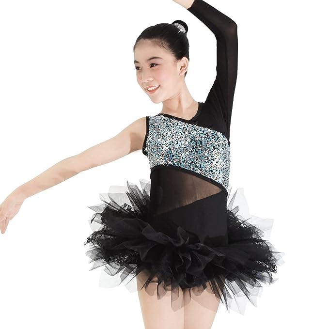 Amazon.com: midee 2 piezas mujer Ballet Tutu one-sleeve ...