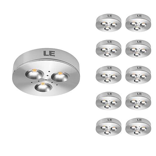 LE 10 x Luces LED, 3W=25W Halógena 240 lúmenes Blanco cálido, Luces