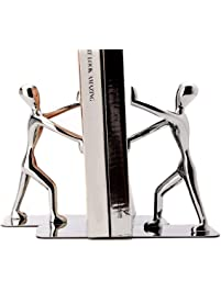 Fasmov Heavy Duty Stainless Steel Man Bookends.