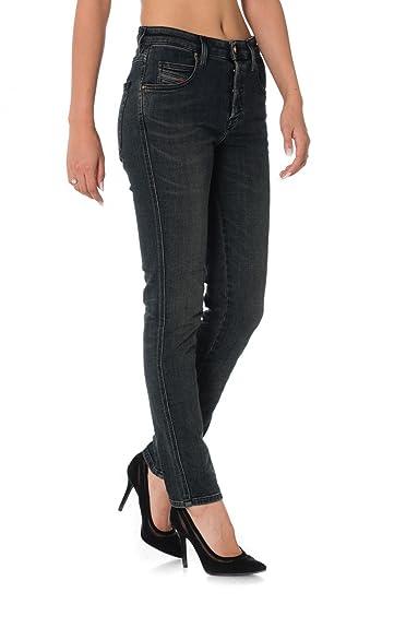 c4e214ade59217 Diesel BABHILA Jeans Damen Grau / 084vq Slim Fit Jeans: Amazon.de ...