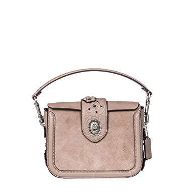 c4ac361e77 Coach Women s 12588Lhmmt Grey Suede Shoulder Bag  Amazon.co.uk  Clothing