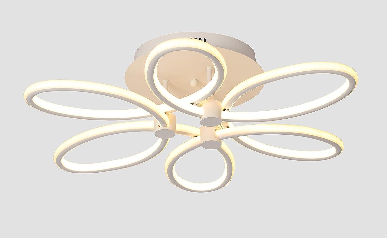 65W LED Deckenleuchte 64x26x16cm. Zwei Lichtfarbe gleichzeitig Warmweiß kaltweis Modernes Dekorativer LED-Platinen Beleuchtung für Kinderzimmer Kindergarten Wohnzimmer Esszimmer [Energieklasse A++]