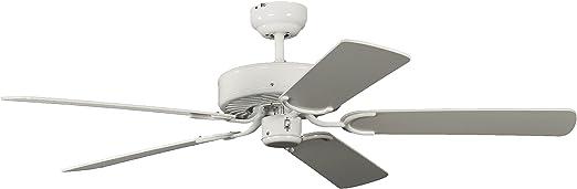 Pepeo Potkuri ventilador de techo sin luz, carcasa en blanco ...