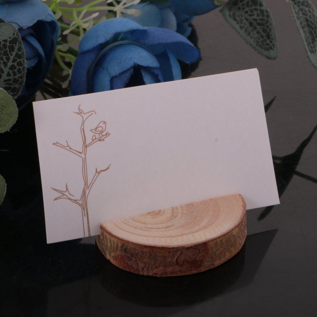 Gazechimp Rustikale Holz Fotohalter Sitzkartenhalter Kartenhalter