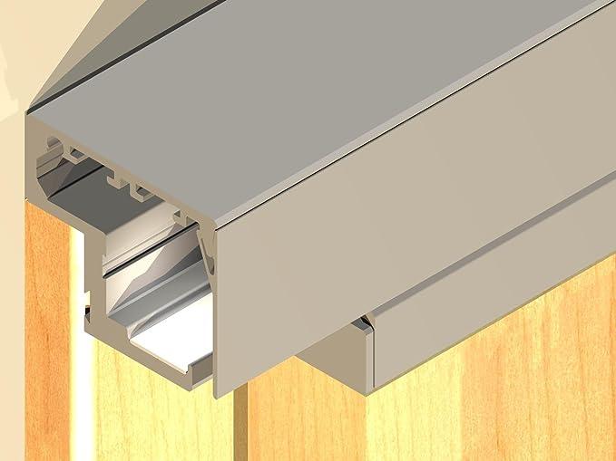 Madera-Herraje de puerta corredera Rodas, para bastidor de 60 mm X 20 mm y puertas sin luz en, la anchura 985 mm: Amazon.es: Bricolaje y herramientas