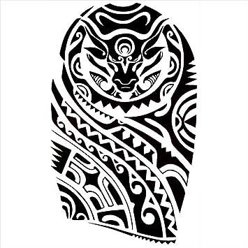 Tatuajes temporales maorí tauro, para hombre y mujer, tatuaje ...