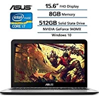Newest Flagship ASUS VivoBook 15.6 inch Gaming Laptop, 15.6 Full HD (1920 x 1080) Display, Intel Core i7-7500U (up to 3.5GHz), 8GB DDR4 RAM, 512GB SSD, NVIDIA GeForce 940MX, Windows 10