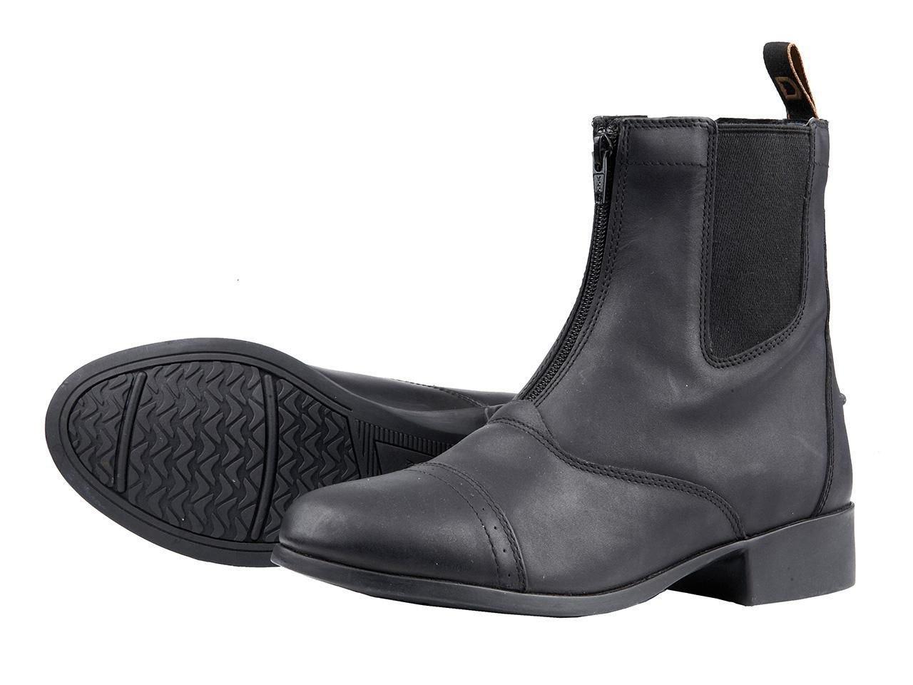 Dublin Ladies Foundation Zip Paddock Boots - Black - Size: 8 by Dublin