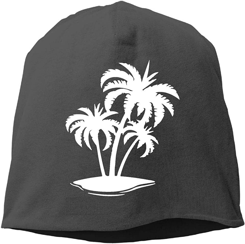 SHA45TM Palm Tree and Tropical Island-1 Men /& Women Winter Helmet Liner Fleece Skull Cap Beanie Hat for Cycling Black