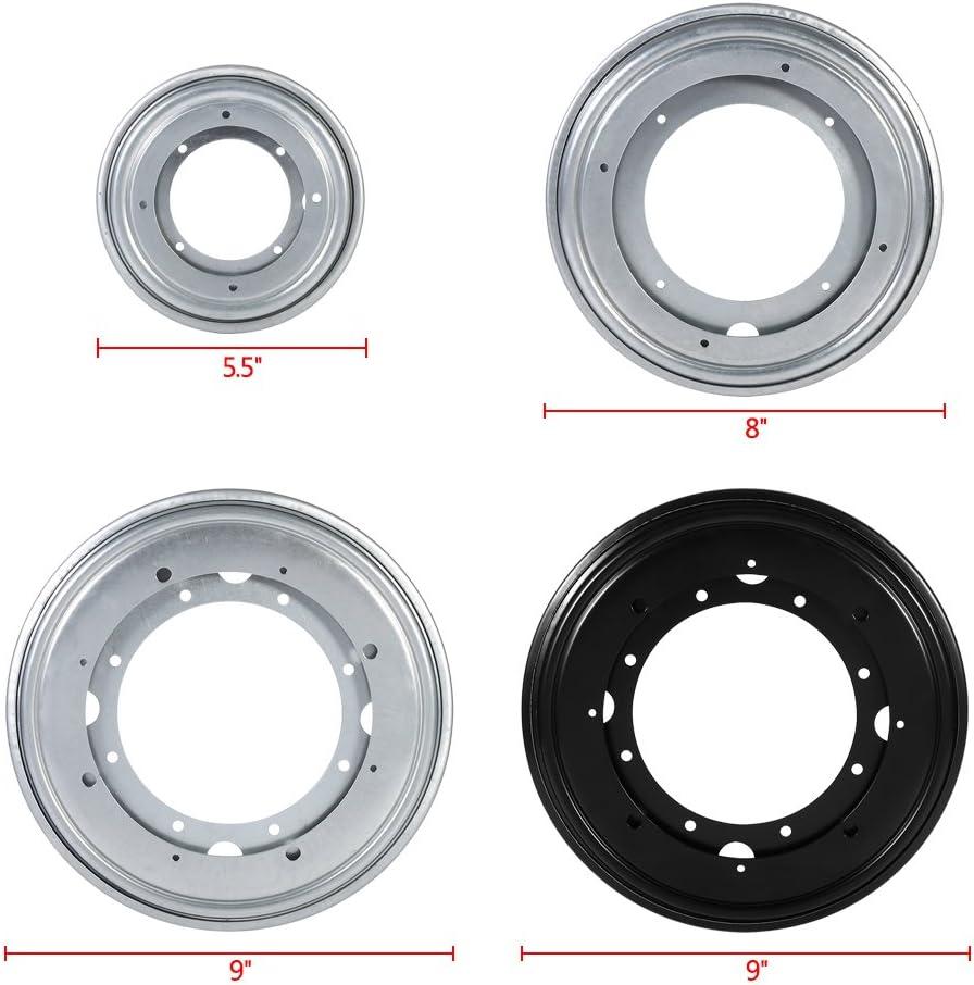 Stahl-Kugellager 360//° drehbar f/ür K/üchenschrank Robuste Drehplatte runde Form 4/Variationen 9-Black