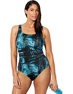 32c523f70970f Swimsuits for All Women's Plus Size Chlorine Resistant Floral One ...