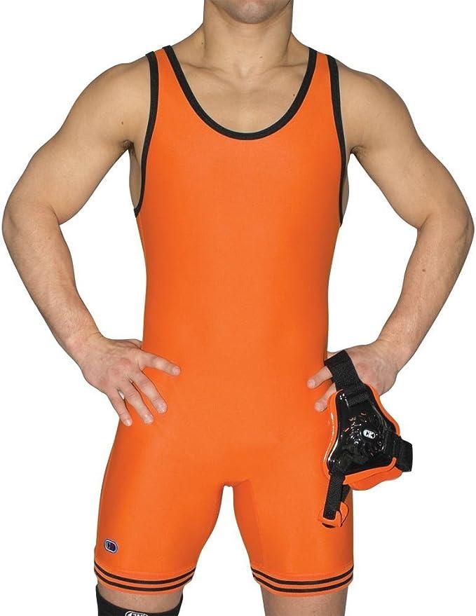 Men/'s Compression Black Tight Underwear Wrestling Singlet Ringer Trikot WS14