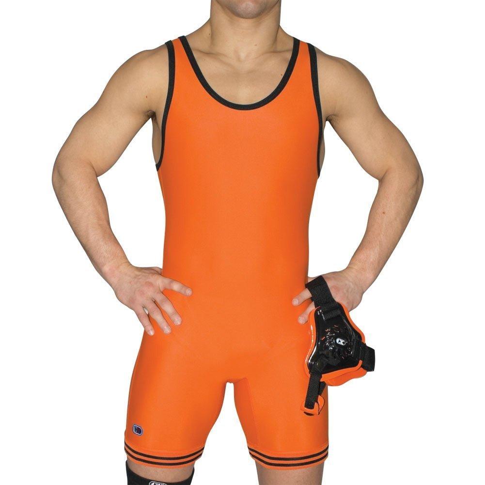 Cliff Keen The Collegiate圧縮Gear Wrestling Singlet オレンジ/ブラック XXX-Large