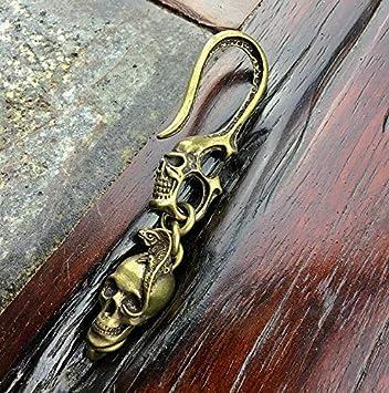 Amazon.com: PPL88-1 - Llavero de metal dorado con diseño de ...