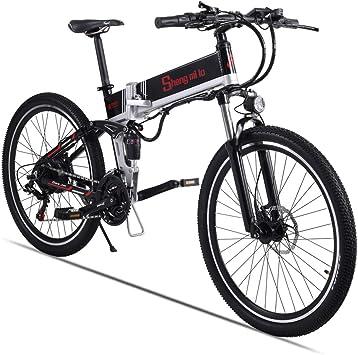 Sheng mi lo Bicicleta eléctrica de montaña M80 500W 48V10.4AH ...