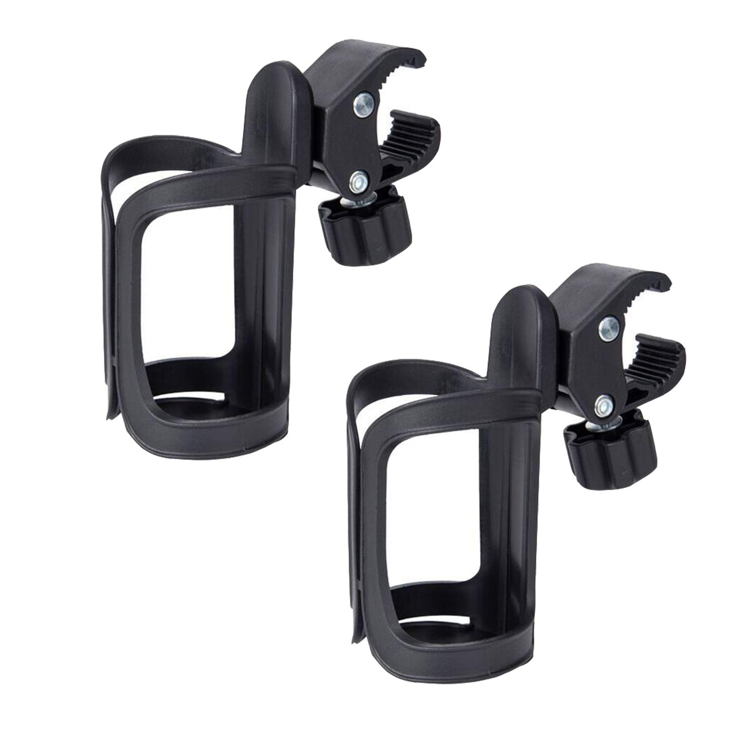 Stroller Cup Holder, 2 Pack Universal Cup and Water Bottle Holder for Baby Stroller, Baby Trolley, Bike, Wheelchair