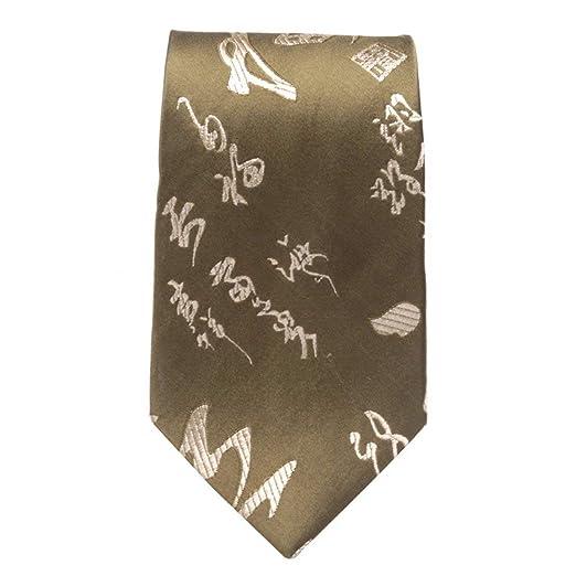 BAIJJ Corbata de 9 cm de caligrafía Estilo Chino con Corbata de ...