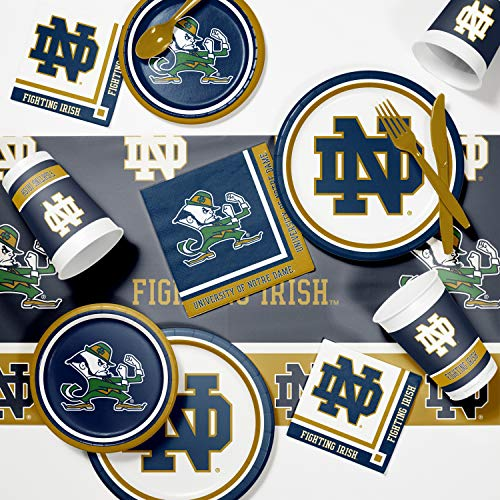 Creative Converting University of Notre Dame Game Day Party Supplies Kit, Serves 8 -