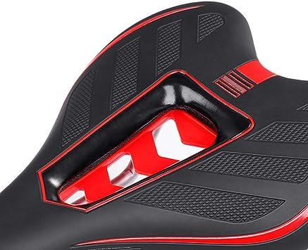 BESPORTBLE Sill/ín de Ciclismo Bicicleta Almohadilla de Gel Asiento Sill/ín Cubierta 3D Coj/ín Suave Negro