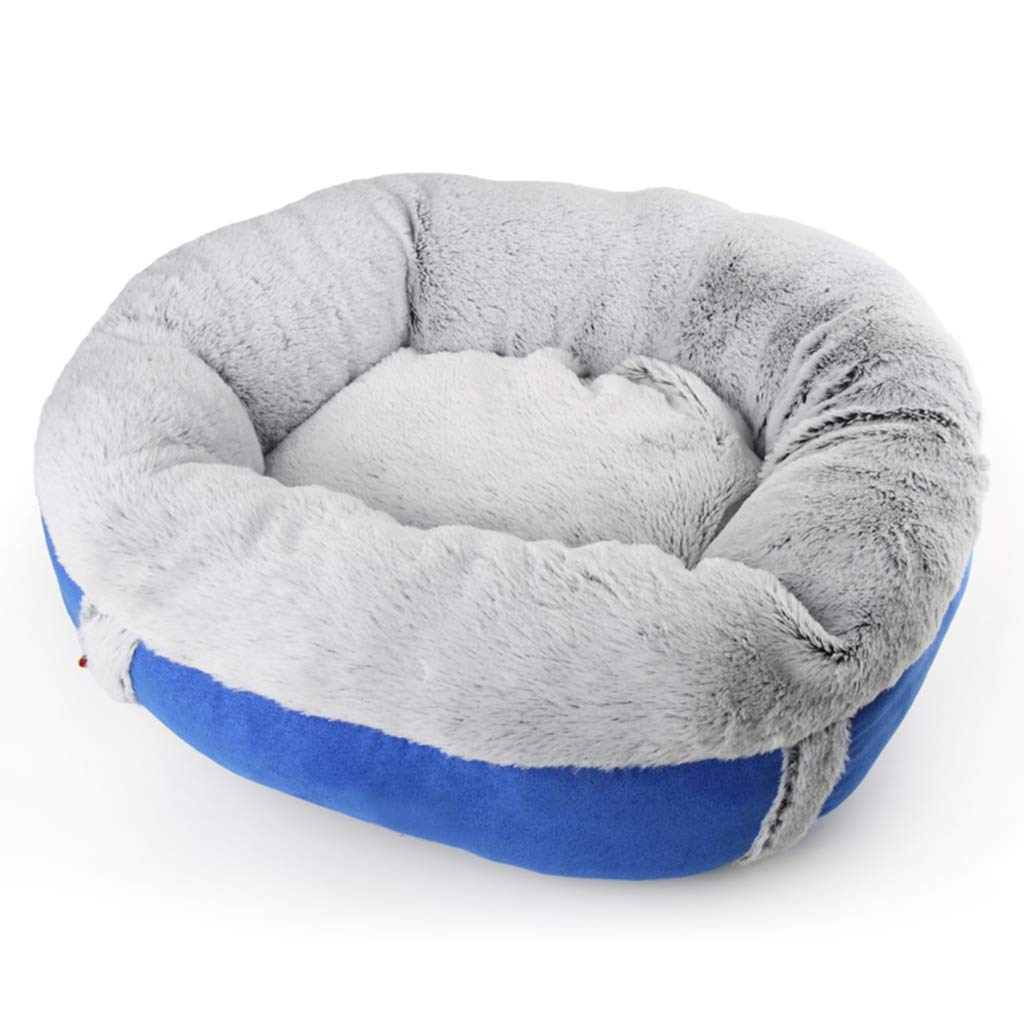 bluee Small bluee Small Soft Dog Bed, Warm Cat Bed House Plush round kennel Pet Supplies Washable Cat Dog Four Seasons Mattress for Small and Medium Dogs and Cats,bluee,S