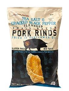 Southern Recipe Small Batch Classic Pork Rinds, Sea Salt & Cracked Black Pepper, 4 Ounce