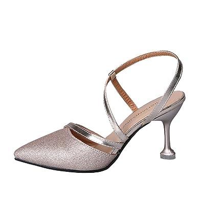 b25efebe199 Spritumn Women Pumps Elegant Rhinestone High Heels Platform Pumps Satin  Wedding Sexy Thin Shallow Sandals Sequins