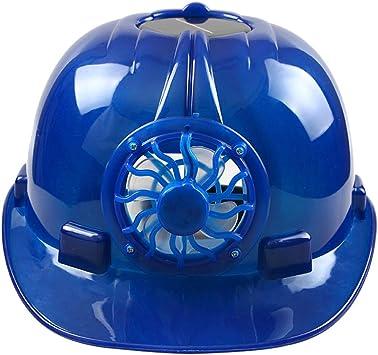 Zreal - Gorro de ventilación con ventilador de refrigeración para casco de seguridad con energía solar, azul: Amazon.es: Deportes y aire libre