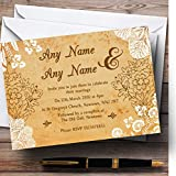 Shabby Chic Rustic Vintage Lace Personalized Wedding Invitations