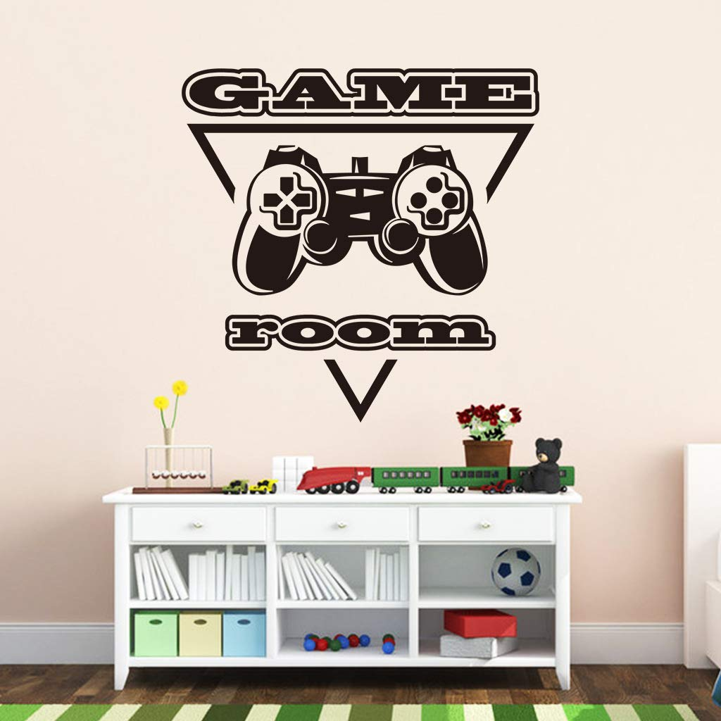 Game Room Wall Decals, Video Game Controller Poster Peel & Stick Wall Stickers, Video Gamer Removable DIY Vinyl Art Design Murals, Joystick Wallpaper for Kids Boys Playroom Bedroom Playroom Home Decor