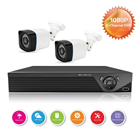 Anni CCTV cámaras Sistema 4CH 1080p DVR Kit Recorder,720p al Aire Libre cámara de