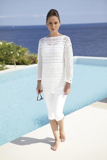 Sirdar algodón DK señoras túnica Crochet patrón 7076: Amazon.es: Hogar