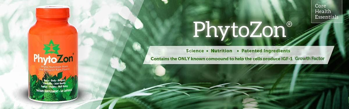 PhytoZon Phytoceutical Blend with Maca, Cat's Claw and Astragalus - Phyto-Nutrition From The Amazon Rainforest