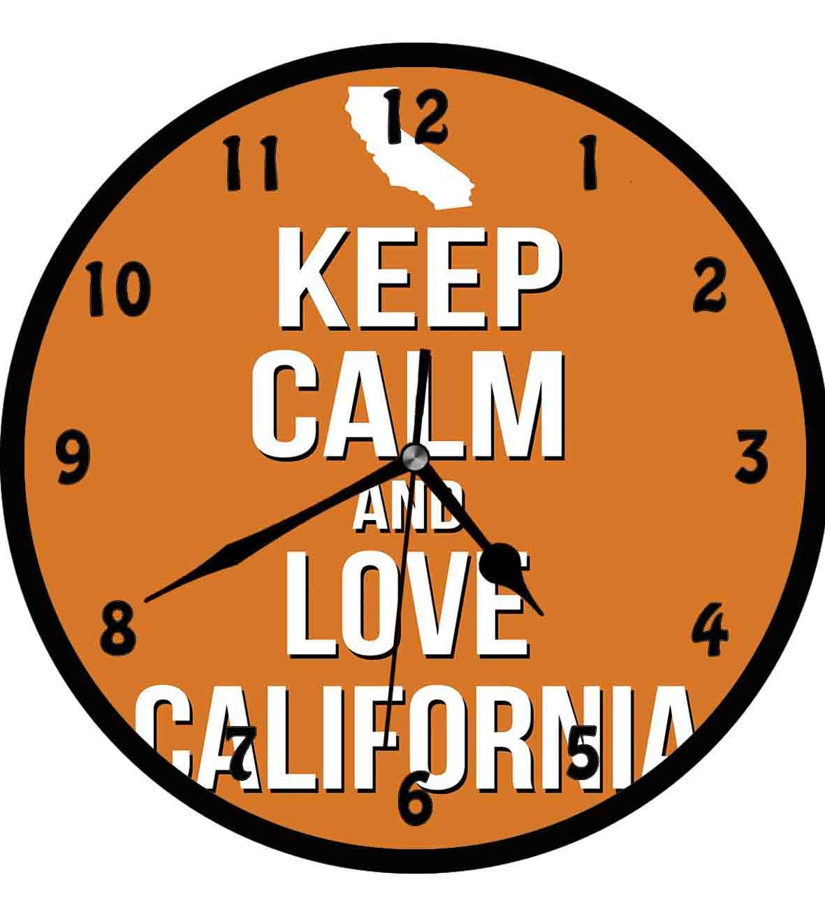 Amazon com: Keep Calm, Love California Quote with Map on