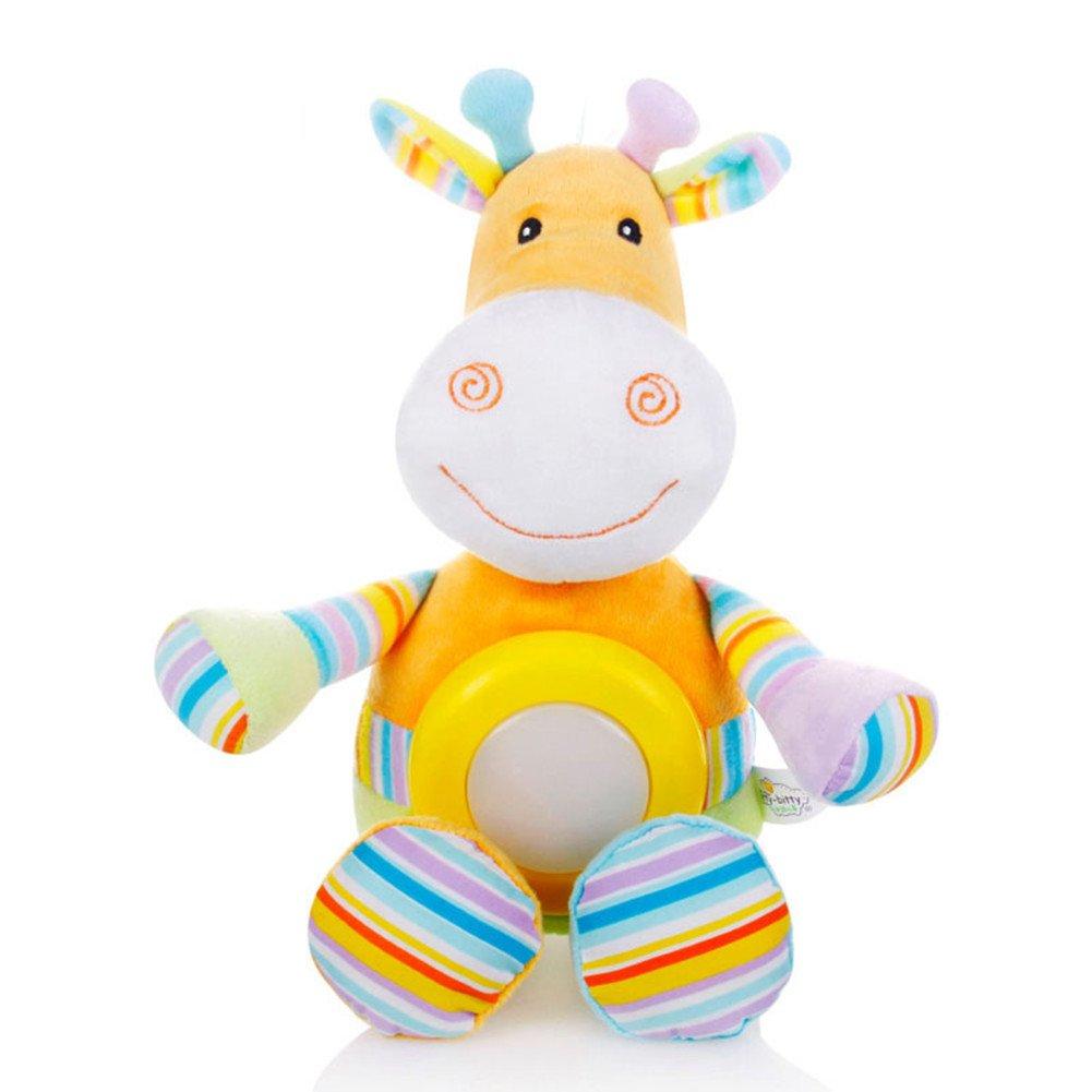 Baby Sleep Aid Night Light & Shusherサウンドマシン&ベビーギフト、ポータブルSoother Stuffed Animalフクロウと2人気曲&子供音楽に快適Plush Toy イエロー 43224-2390 B077ZP5V1W 20880  ウシ