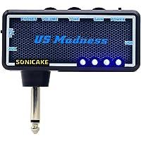 SONICAKE Mini amplificador de auriculares para guitarra para Bajo de bolsillo portátil recargable US Madness