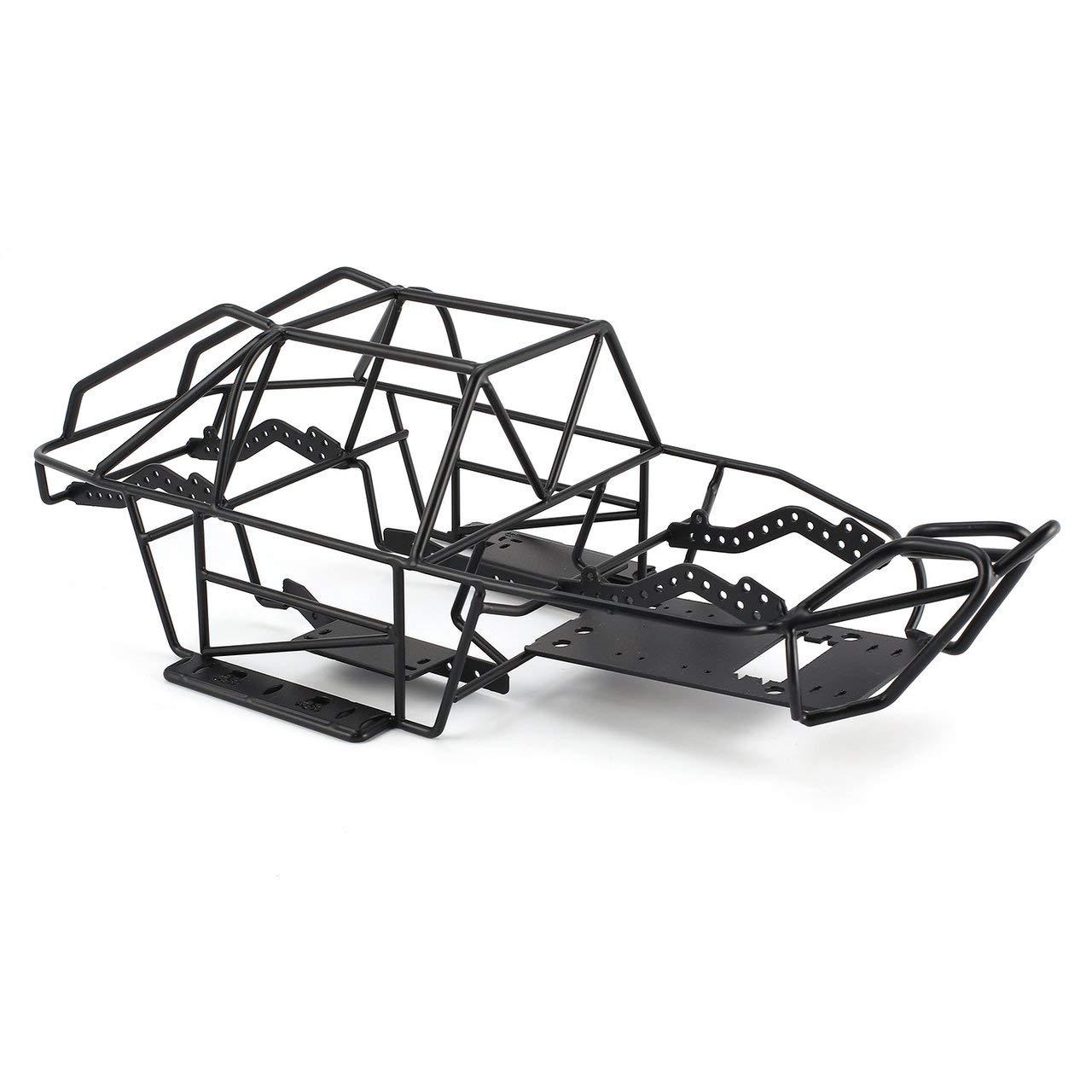 Jasnyfall Metallrollenkäfig-Fahrgestellrahmen RC Car Body für Axial Scx10II RC Car Crawler Schwarz